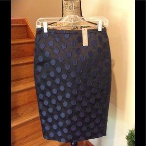 NWT. J Crew gorgeous polka dot pencil skirt